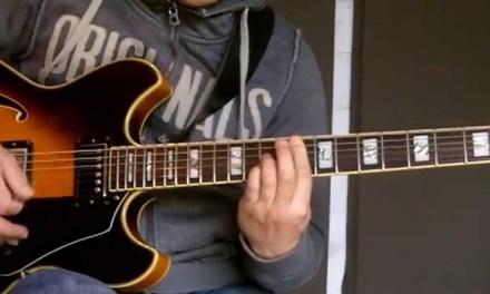 Major II-V-I jazz guitar lesson | Lick # 1
