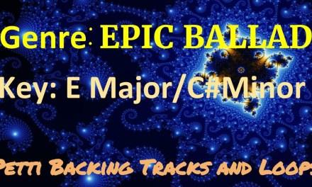 E Major/C# Minor – Epic Ballad Guitar Backing Track