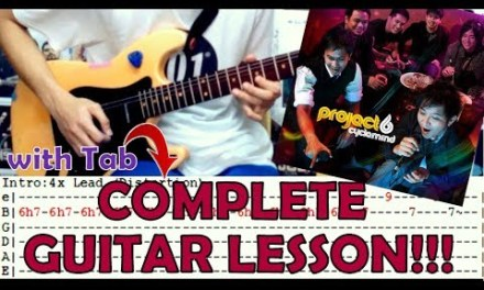 Sandalan – 6cyclemind(Complete Guitar Lesson/Cover)with Chords and Tab