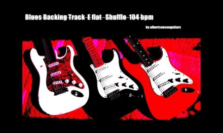Blues Backing Track E flat Shuffle Eb 104bpm