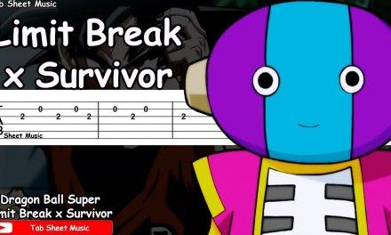 Dragon Ball Super OP 2 – Limit Break x Survivor Guitar Tutorial