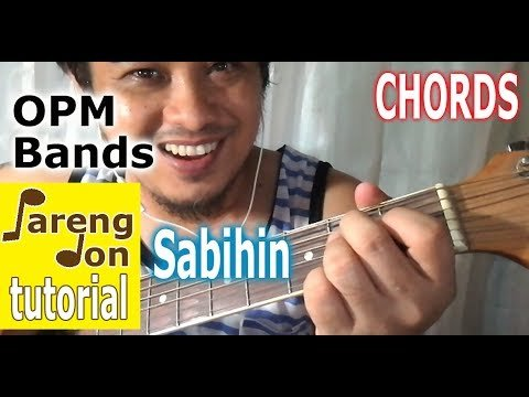 Sabihin Karaoke chords – Zelle – OPM Guitar Tutorial lessons ni ...