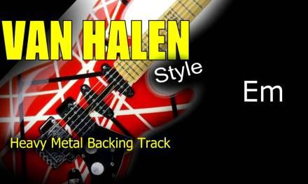 Heavy Metal Van Halen Style Guitar Backing Track 171 Bpm Highest Quality