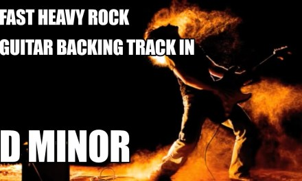 Fast Heavy Rock Guitar Backing Track In D Minor