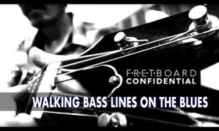 Walking Bass Lines on the Blues Guitar