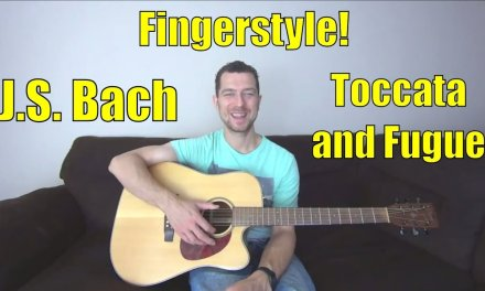 Toccata and Fugue in D Minor Guitar – J.S. Bach Free acoustic classical lesson