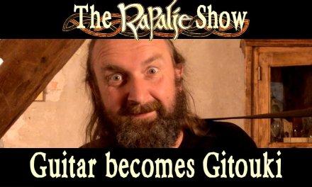 William shows how a guitar becomes a gitouki – Rapalje show 15