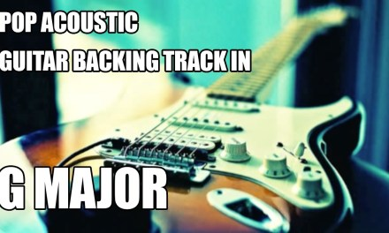 Pop Acoustic Guitar Backing Track in G Major