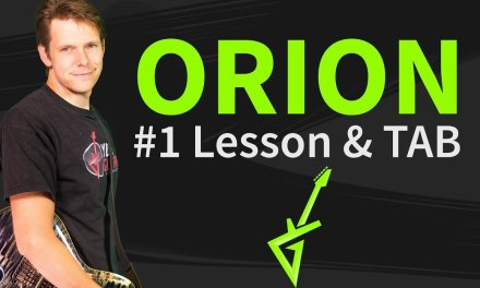 How To Play Orion Guitar Lesson & TAB #1 Metallica Tutorial