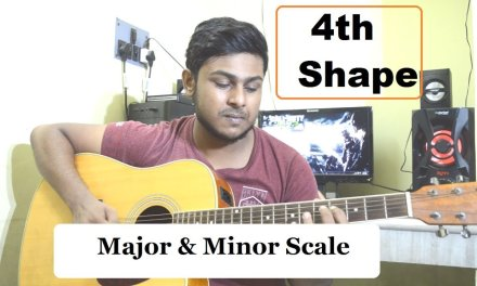 Major & Minor scale||4th Shape||-How to play-Beginner Acoustic Guitar Lesson-Tutorial 12