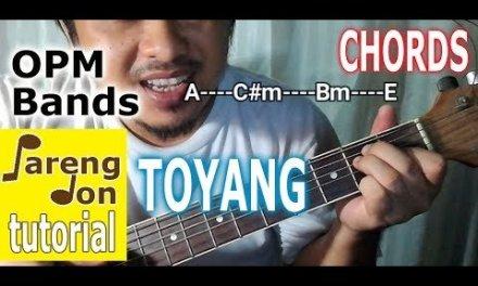Toyang Chords (Eraserheads) Beginners Easy Guitar Tutorial