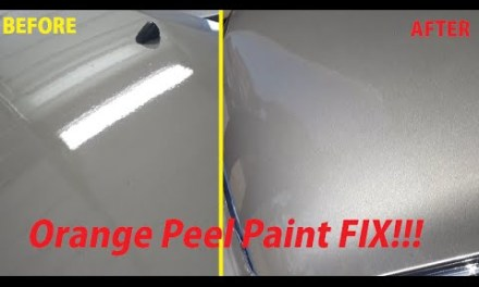 How to FIX Orange Peel paint or Clear Coat