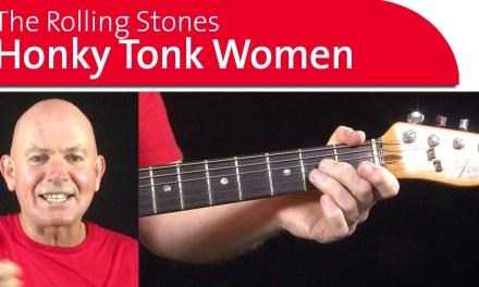 Honky Tonk Woman Guitar Lesson – Intro Part 1