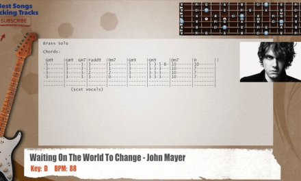 Waiting On The World To Change – John Mayer Guitar Backing Track with chords and lyrics