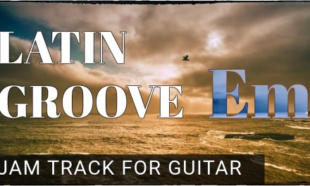 Latin Groove in E Minor Backing Track For Guitar