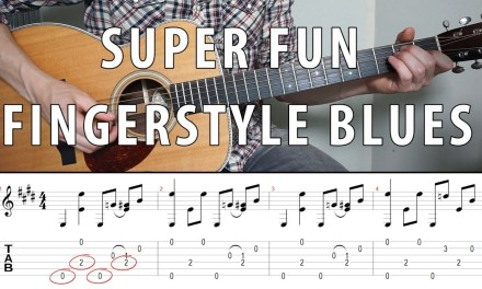 Super Fun Fingerstyle BLUES You Should Know | TABS