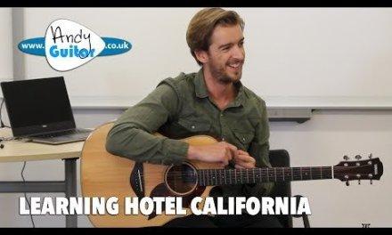 Hotel California Guitar Tutorial EASY chords – Guitar Lesson Workshop
