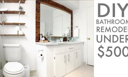 Remodeling a bathroom for Under $500 | DIY | How To | Modern Builds | EP. 68