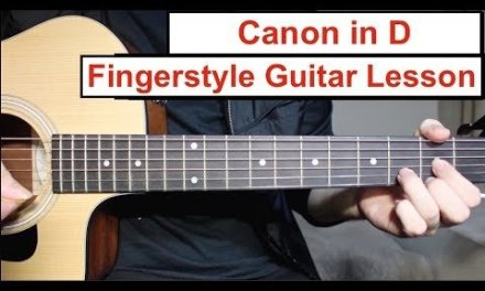 Canon in D | Fingerstyle Guitar Lesson (Tutorial) How to play Canon Easy Fingerstyle