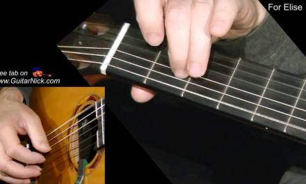 FOR ELISE: Fingerstyle Guitar Lesson + TAB by GuitarNick