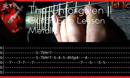 The Unforgiven II Guitar Solo Lesson – Metallica (with tabs)