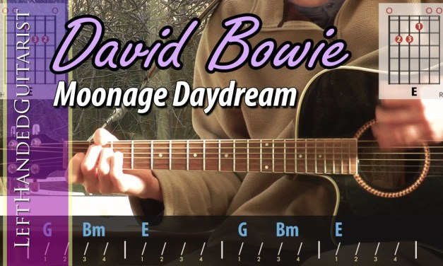 David Bowie Moonage Daydream Acoustic Guitar Lesson The Glog
