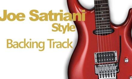 Rock Joe Satriani Style Guitar Jam Track #9 160 Bpm