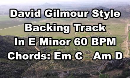David Gilmour Style Backing Track In E Minor 60 BPM