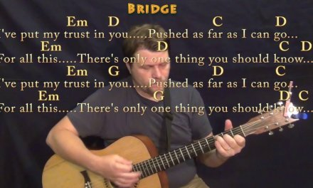 In The End (Linkin Park) Guitar Lesson Chord Chart in Em with Chords/Lyrics
