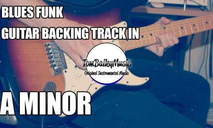 Blues Funk Guitar Backing Track In A Minor