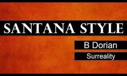SANTANA STYLE Guitar Backing Track Jam in B Dorian – Surreality
