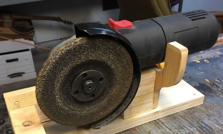 How I turn my Angle grinder into a bench grinder !!!