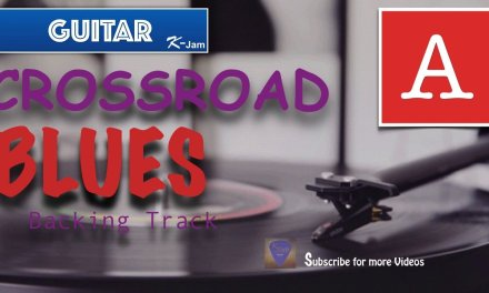 CROSSROAD BLUES Guitar Backing Track in A