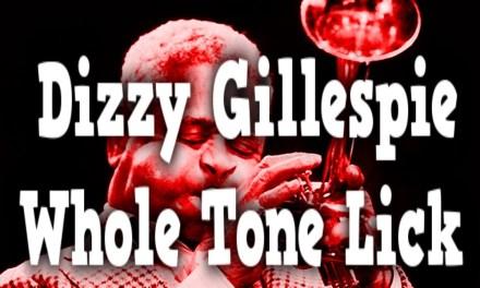 Dizzy Gillespie Wholetone Lick   Jazz Bass Improvisation Exercises