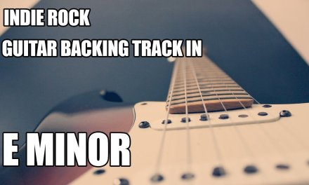 Indie Rock Guitar Backing Track In E Minor