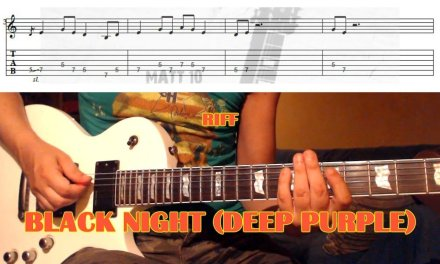 Black Night RIFF (Deep Purple) GUITAR LESSON with TAB