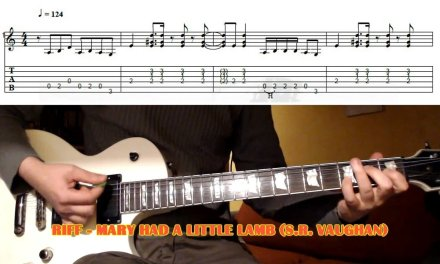 Mary Had A Little Lamb RIFF (Stevie Ray Vaughan) GUITAR LESSON with TAB