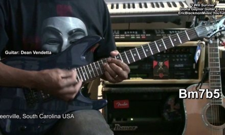 I WILL SURVIVE Gloria Gaynor Electric Funk Guitar Play Along Chord Cover + Lesson Links