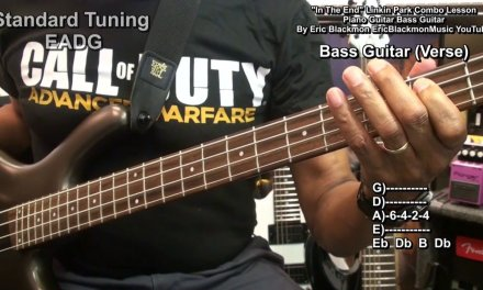 Linkin Park IN THE END Guitar – Piano- Bass Combo Lesson  CORRECTED Post EricBlackmonGuitar HD