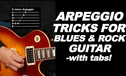 Sweet Arpeggio tricks for blues and rock guitar video lesson (with tabs)