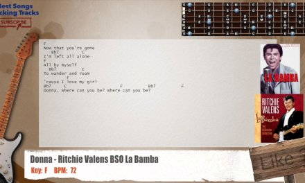 Donna – Ritchie Valens (La Bamba Soundtrack) Guitar Backing Track with chords and lyrics