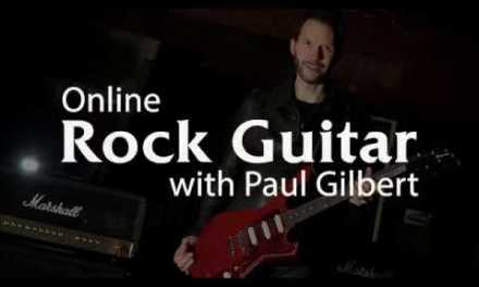 Rock Guitar Lessons with Paul Gilbert – Promo