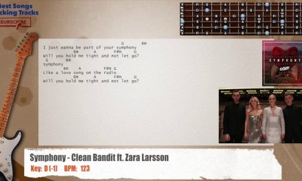 Symphony – Clean Bandit ft. Zara Larsson Guitar Backing Track with chords and lyrics