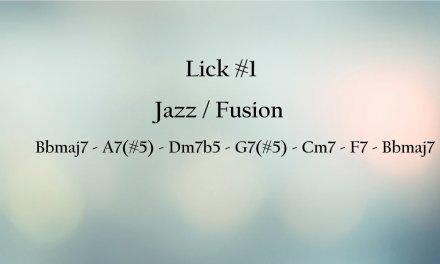 Jazz/Fusion Guitar Mini Lesson: Lick #1