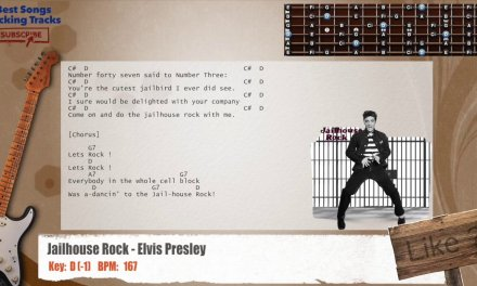 Jailhouse Rock – Elvis Presley Guitar Backing Track with chords and lyrics