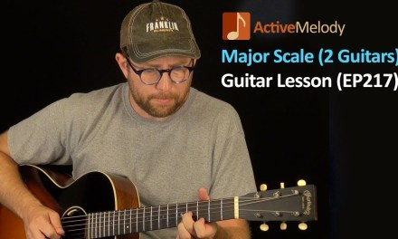 Major Scale Guitar Lesson (with both rhythm and lead guitar) – EP217
