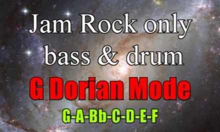 G Dorian Jam Rock Backing Track for Guitar