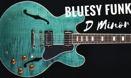 Nasty Blues Funk Guitar Backing Track Jam in D