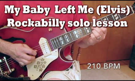 My Baby Left Me Guitar Lesson by Tom Conlon