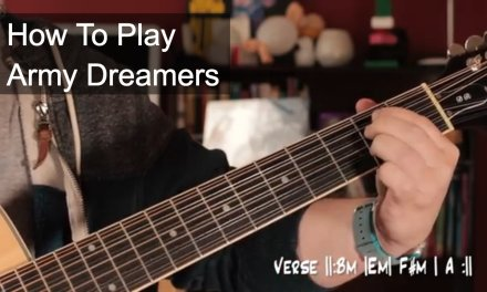 'Army Dreamers' Kate Bush Acoustic Guitar Lesson